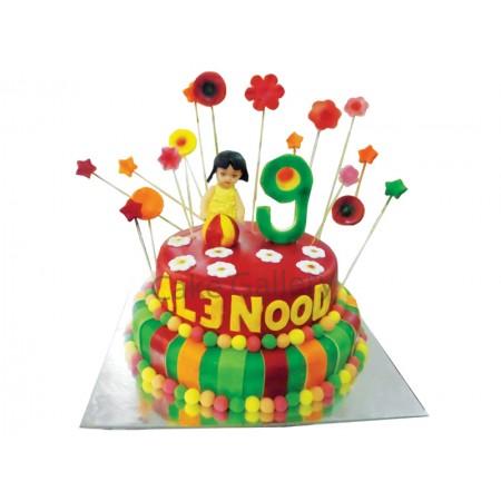 angel rainbow cake