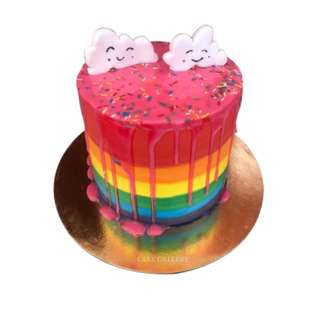 Stylish Rainbow cake
