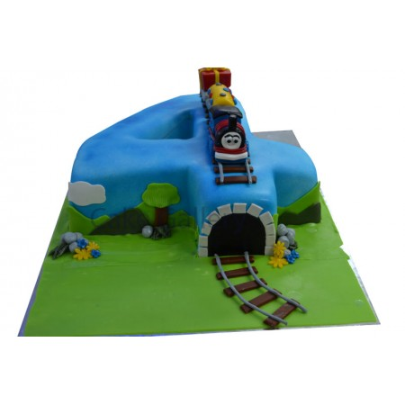 4 And The Train Cake