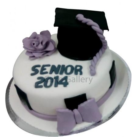 White Academic Cake
