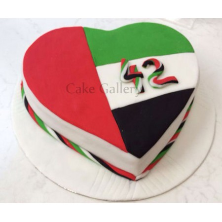 National Day Heart Cake