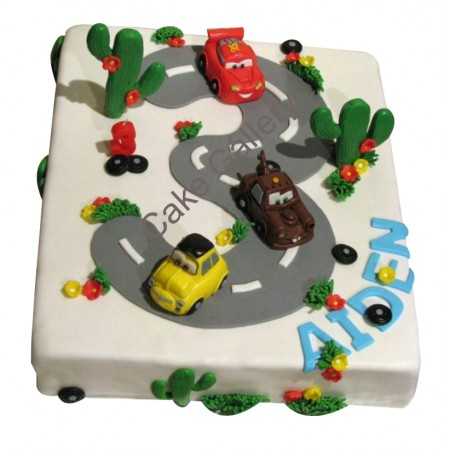 Road And The  Car Cake