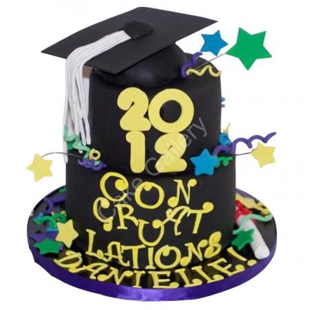 Two Layered Graduation Cake