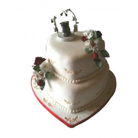 2 Layered Love Cake