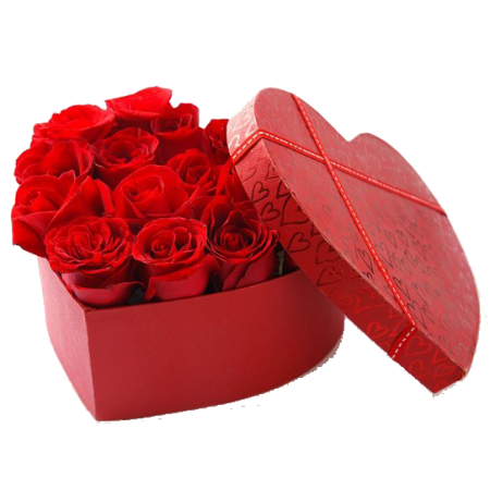 Red Rose Flower box