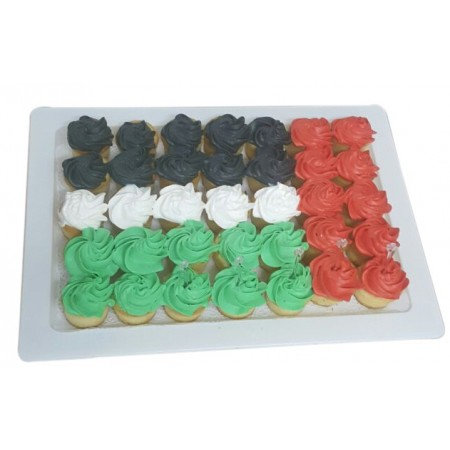National Day Mini Cup Cakes